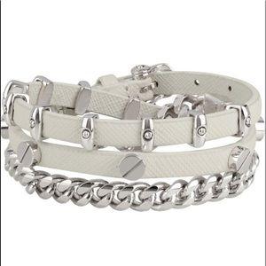 Henri Bendel triple leather studded bracelet